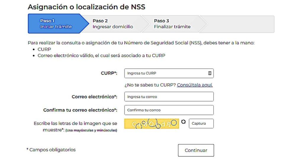 Número de Seguridad Social ISSSTE Online
